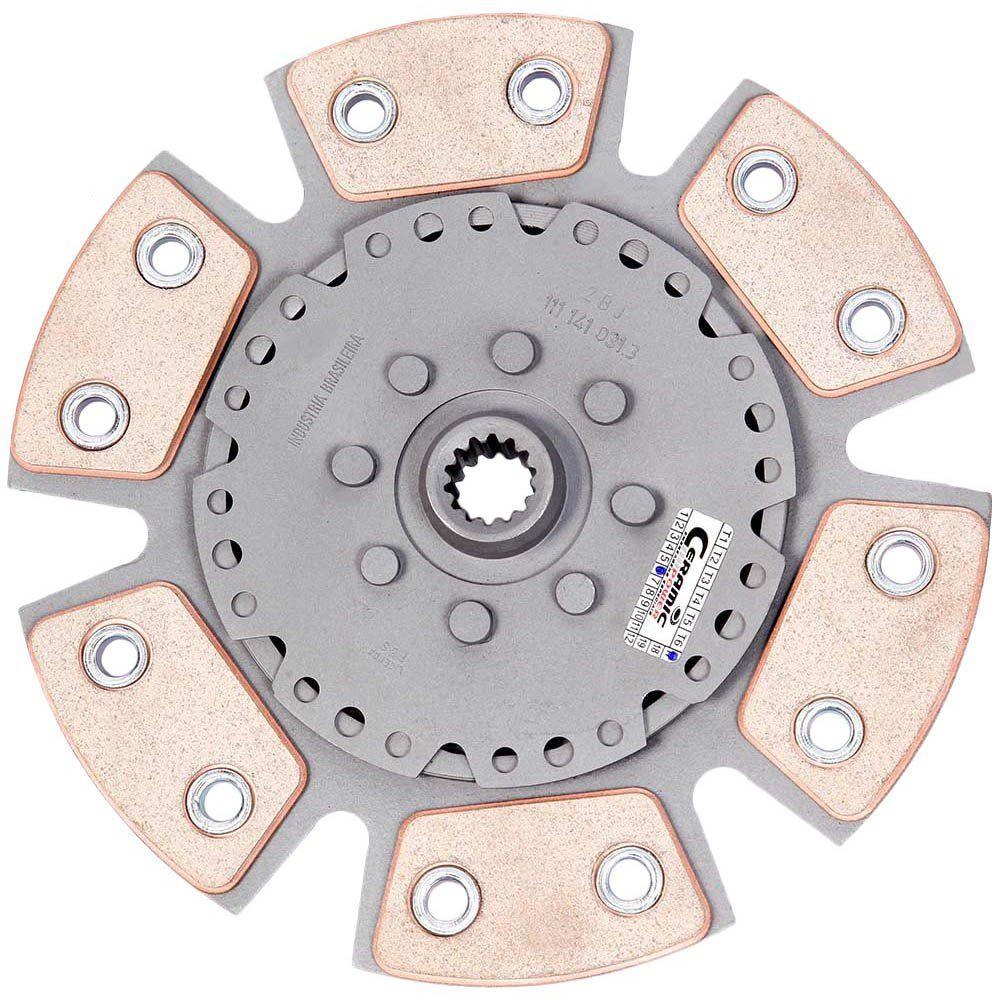 Disco Embreagem Cerâmica 6 pastilhas sem molas Corsa 1.6 94 a 2003, Classic 1.6 2001 a 2007, Tigra 1.6 98 99 Ceramic Power