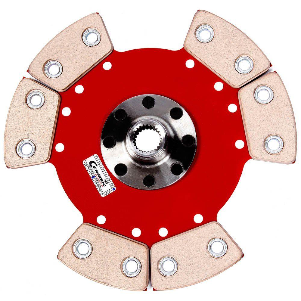 Disco Embreagem Cerâmica 6 pastilhas sem molas Kadett Ipanema Monza 1.6 / 1.8 / 2.0 - 82 83 84 85 86 87 88 89 90 91 92 Ceramic Power