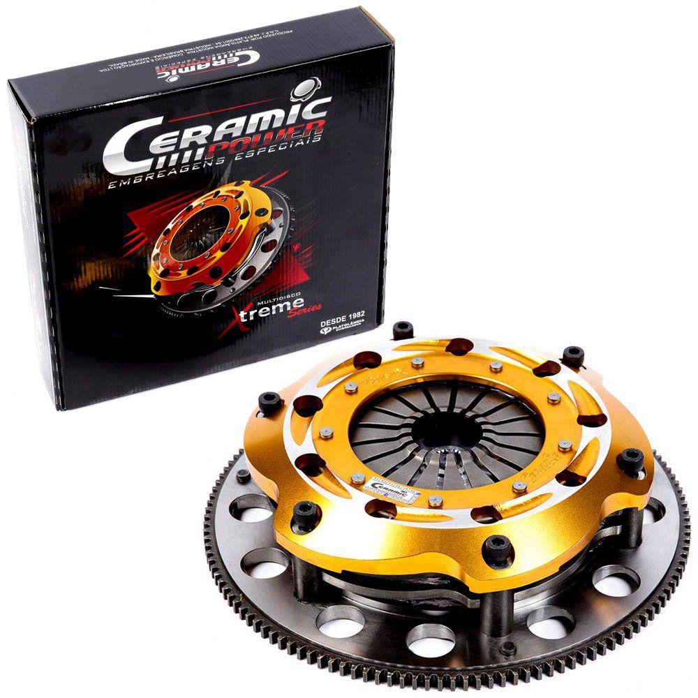 Embreagem Multidisco Xtreme Ajustável AP 1.8 2.0 Eixo do Câmbio GTI Gol Parati Saveiro G1 G2 G3 G4 Voyage Santana Passat Ceramic Power