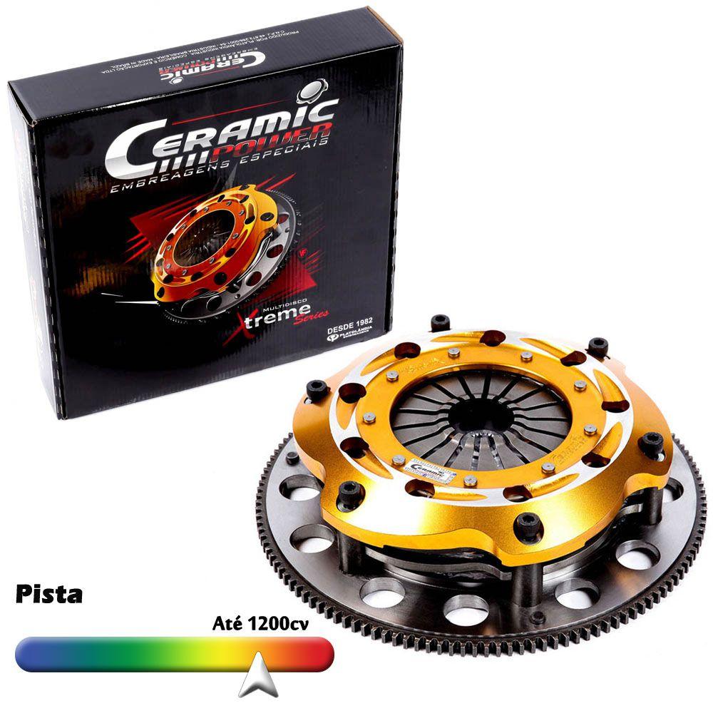 Embreagem Multidisco Xtreme Gold AP 1.8 2.0 Estria GTI Gol Parati Saveiro G1 G2 G3 G4 Voyage Santana Passat Ceramic Power