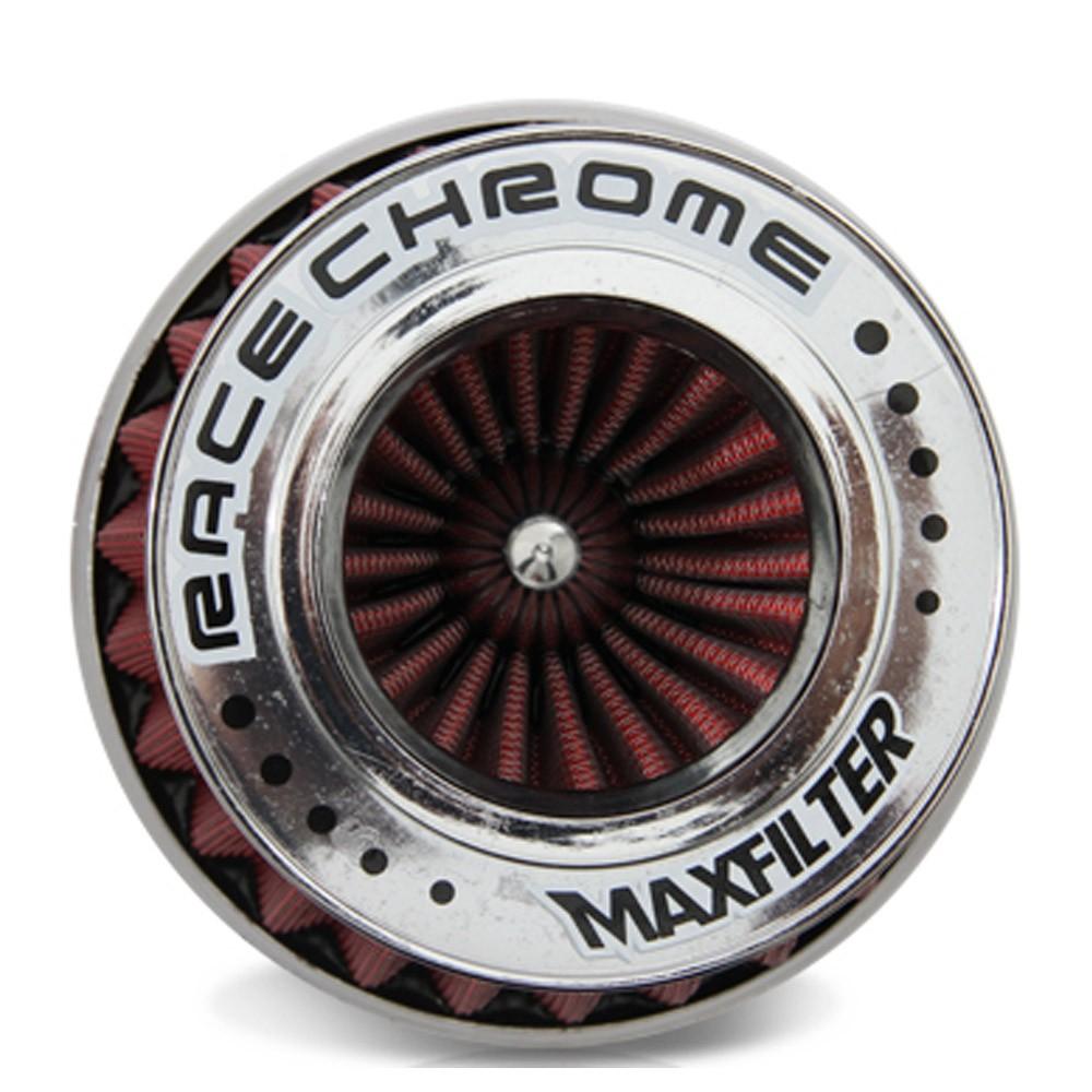 Filtro de Ar Esportivo Duplo Fluxo Maxfilter Race Chrome Vermelho