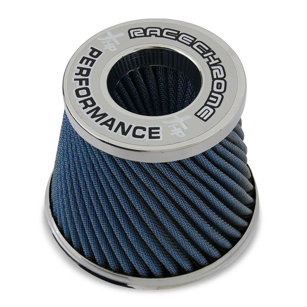 Filtro de Ar Esportivo Duplo Fluxo Twister Race Chrome Médio Azul