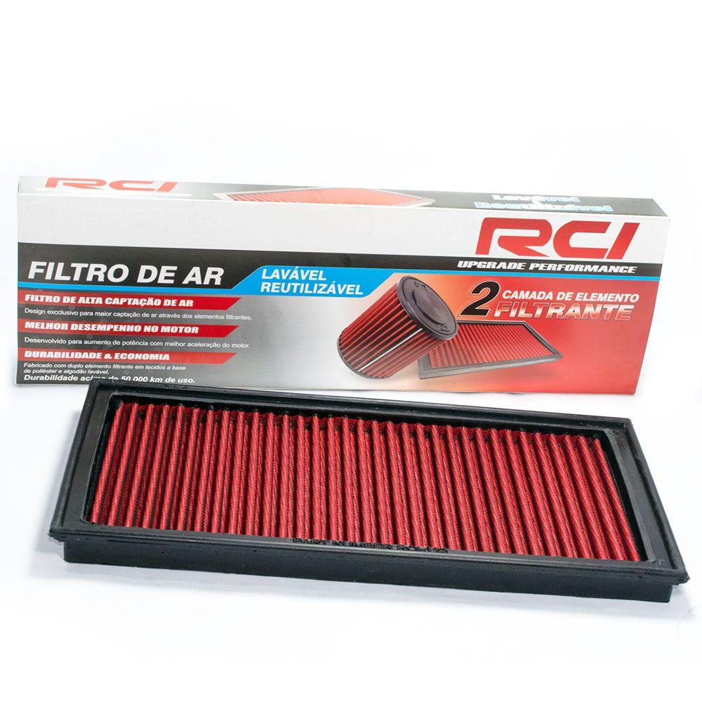 Filtro de Ar Esportivo Golf 1.6 1.8 2.0 96 a 2014, Audi A3 1.6 1.8 2.0 96 a 2013, Bora Polo New Beetle 2.0 98 a 2015