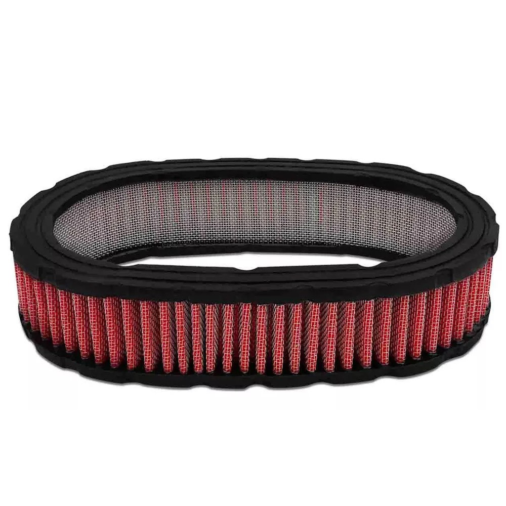 Filtro de Ar Para Carburador Esportivo Oval Vermelho