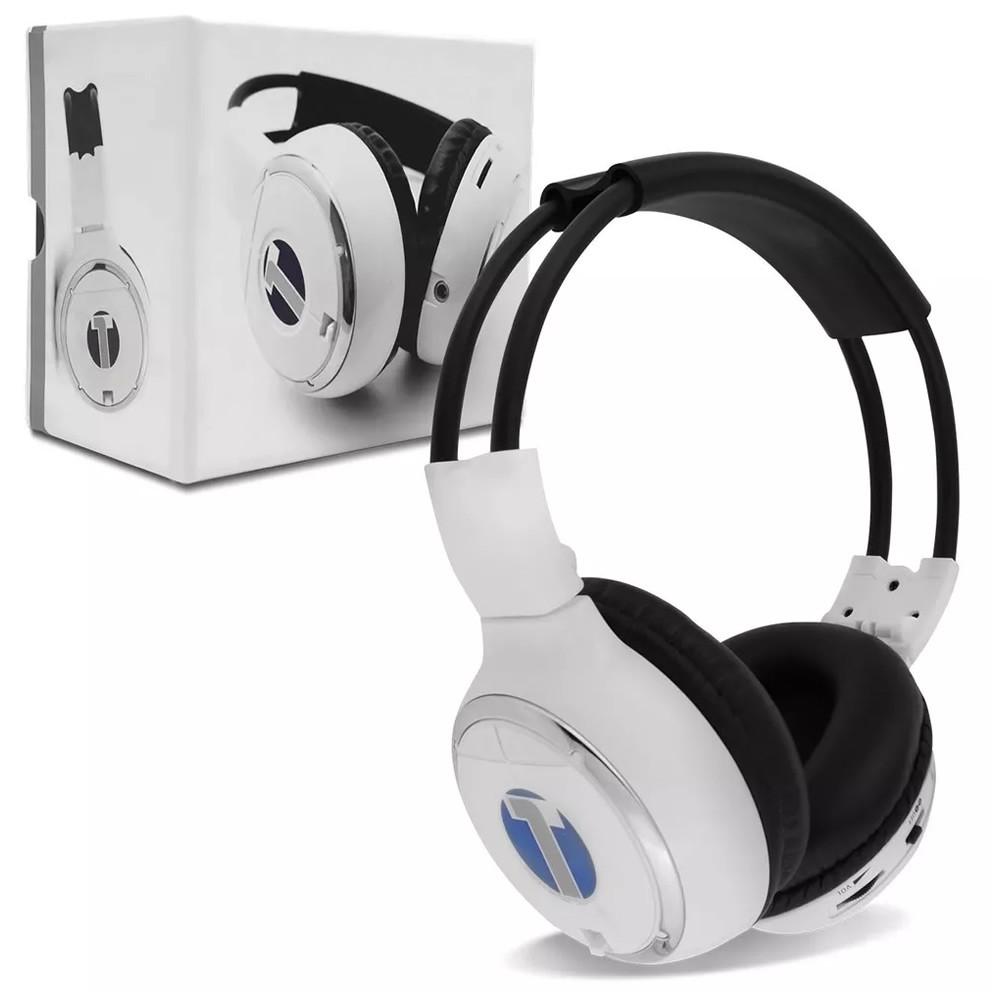 Fone de Ouvido Sem Fio Infravermelho 2 Canais Branco (FN01)