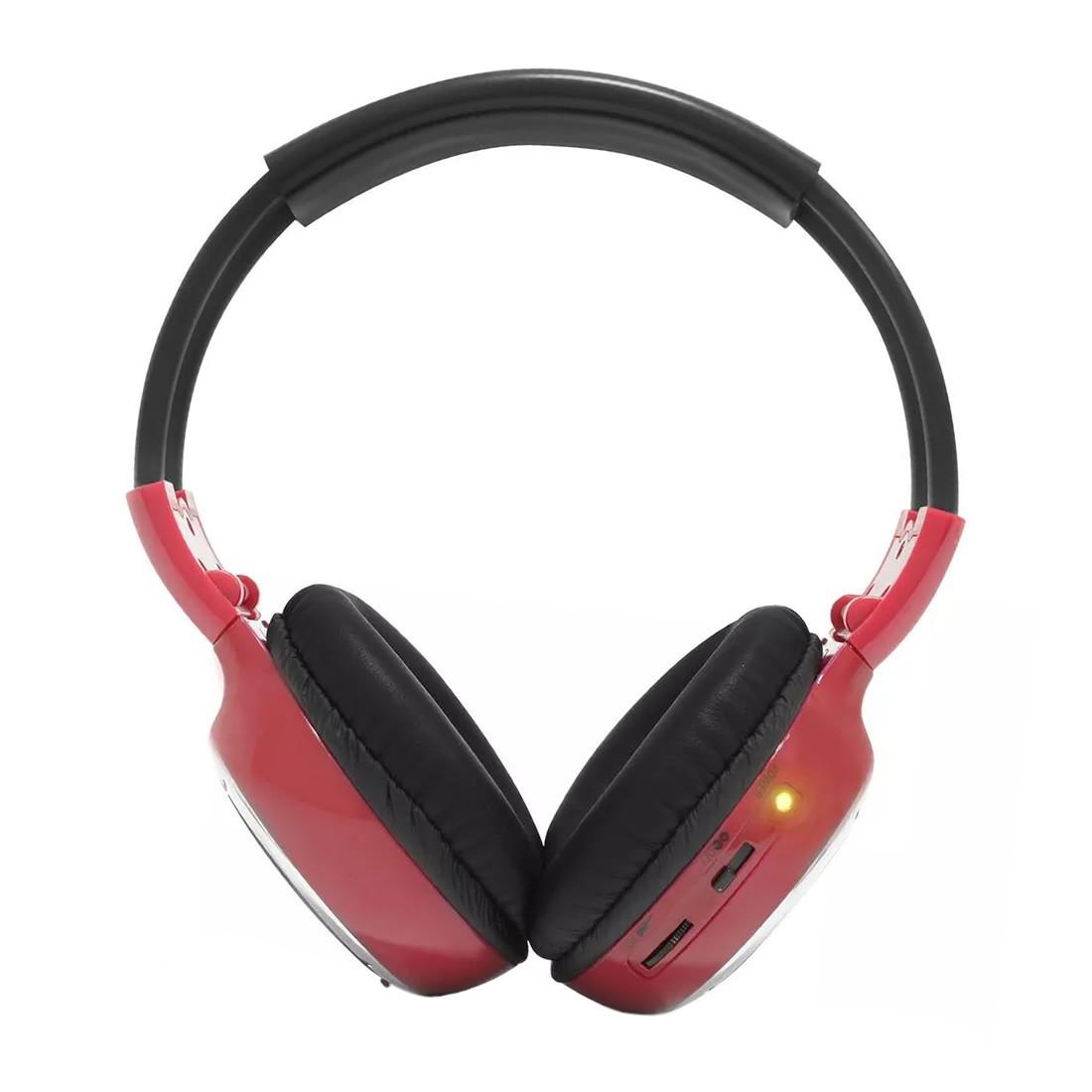 Fone de Ouvido Sem Fio Infravermelho 2 Canais Vermelho (FN04)
