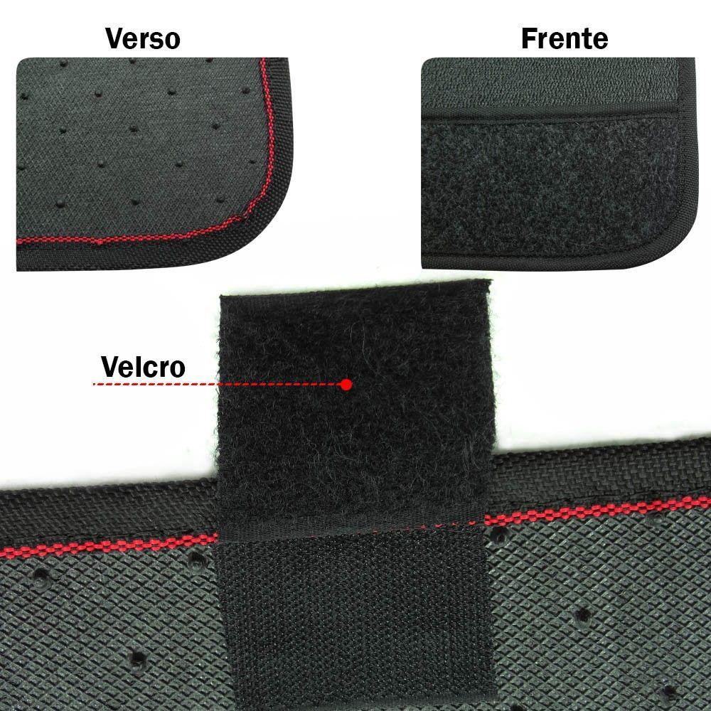 Jogo de Tapetes PVC Volkswagen Universal Preto Logo Bordado 4 Peças (TPVC04)