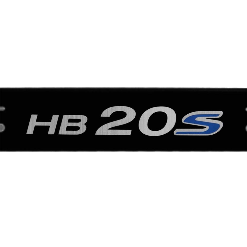Jogo Soleiras Resinadas de Porta Personalizada HB20S 2013 a 2020 4 Peças Preta (SLR02)