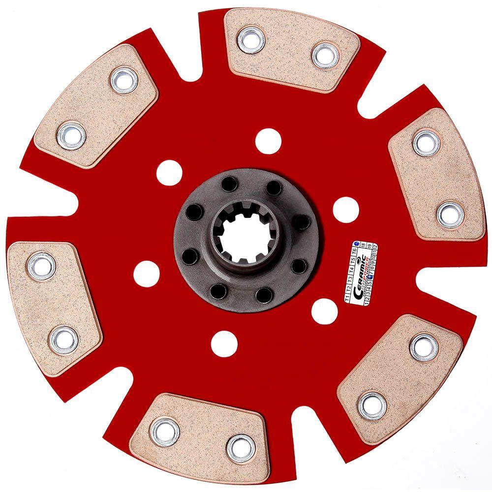 Embreagem de Cerâmica 1200 lb 6 pastilhas sem molas Opala 4 cilindros 2.5, 6 cilindros 4.1 3.8 1968 a 1973 Ceramic Power