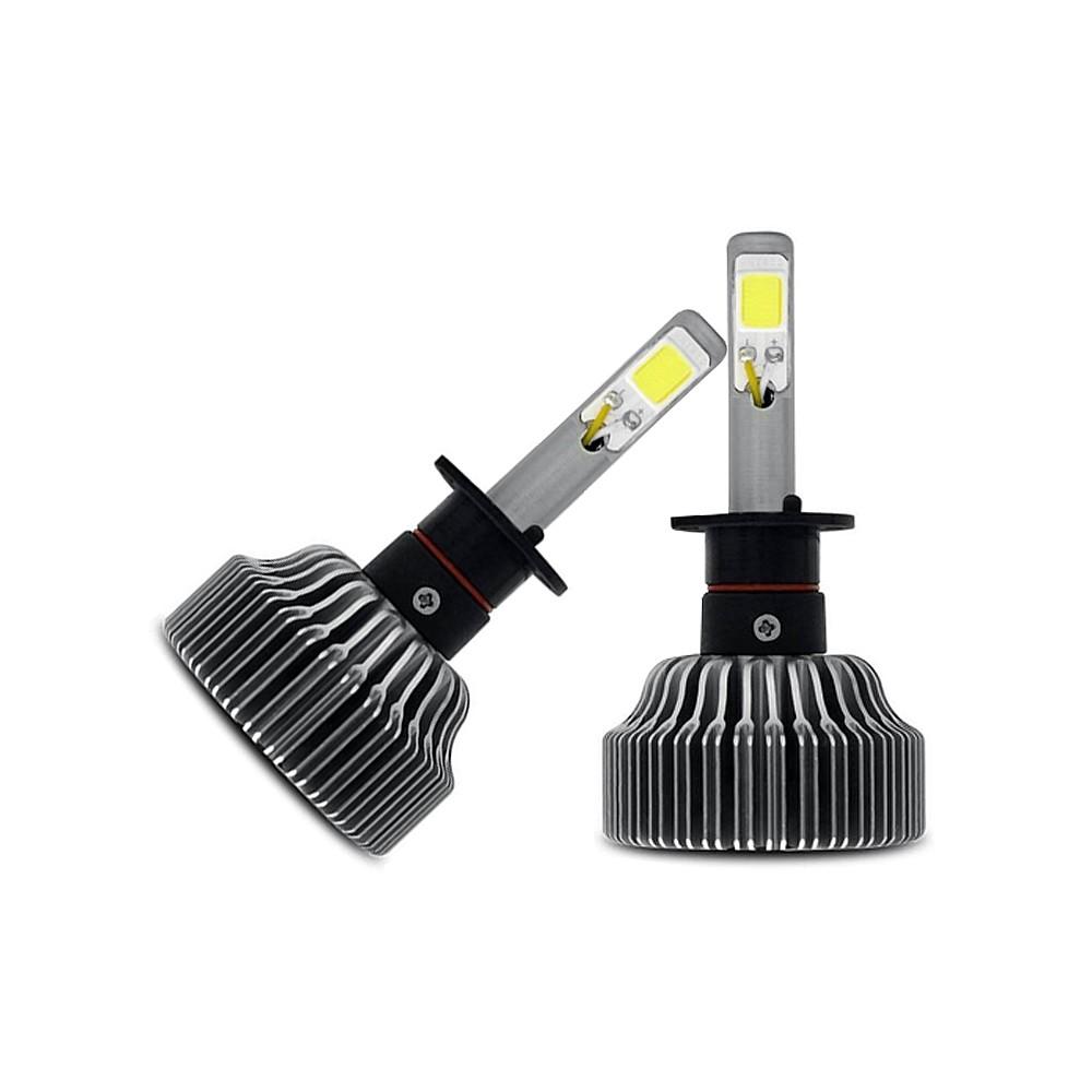Kit Lâmpada Super LED H1 6000k 12V e 24V 18W 3000LM Efeito Xenon - Tech One