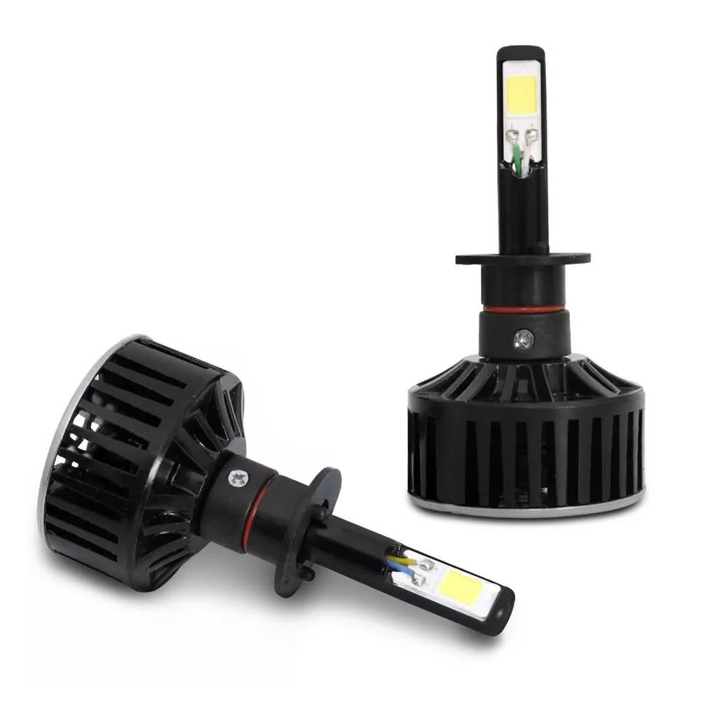 Kit Lâmpada Super LED H1 6000k 12V e 24V 24W 3700LM Efeito Xenon - Tech One