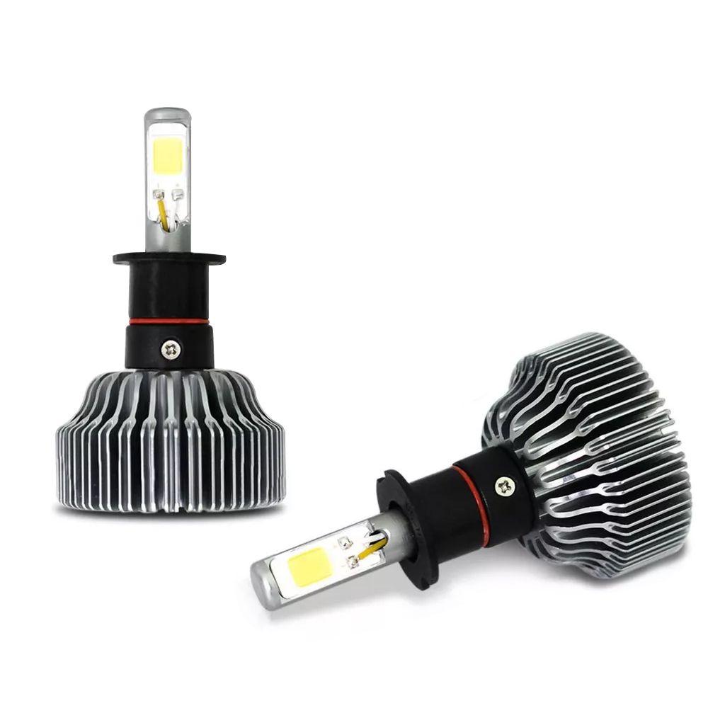 Kit Lâmpada Super LED H3 6000k 12V e 24V 18W 3000LM Efeito Xenon - Tech One