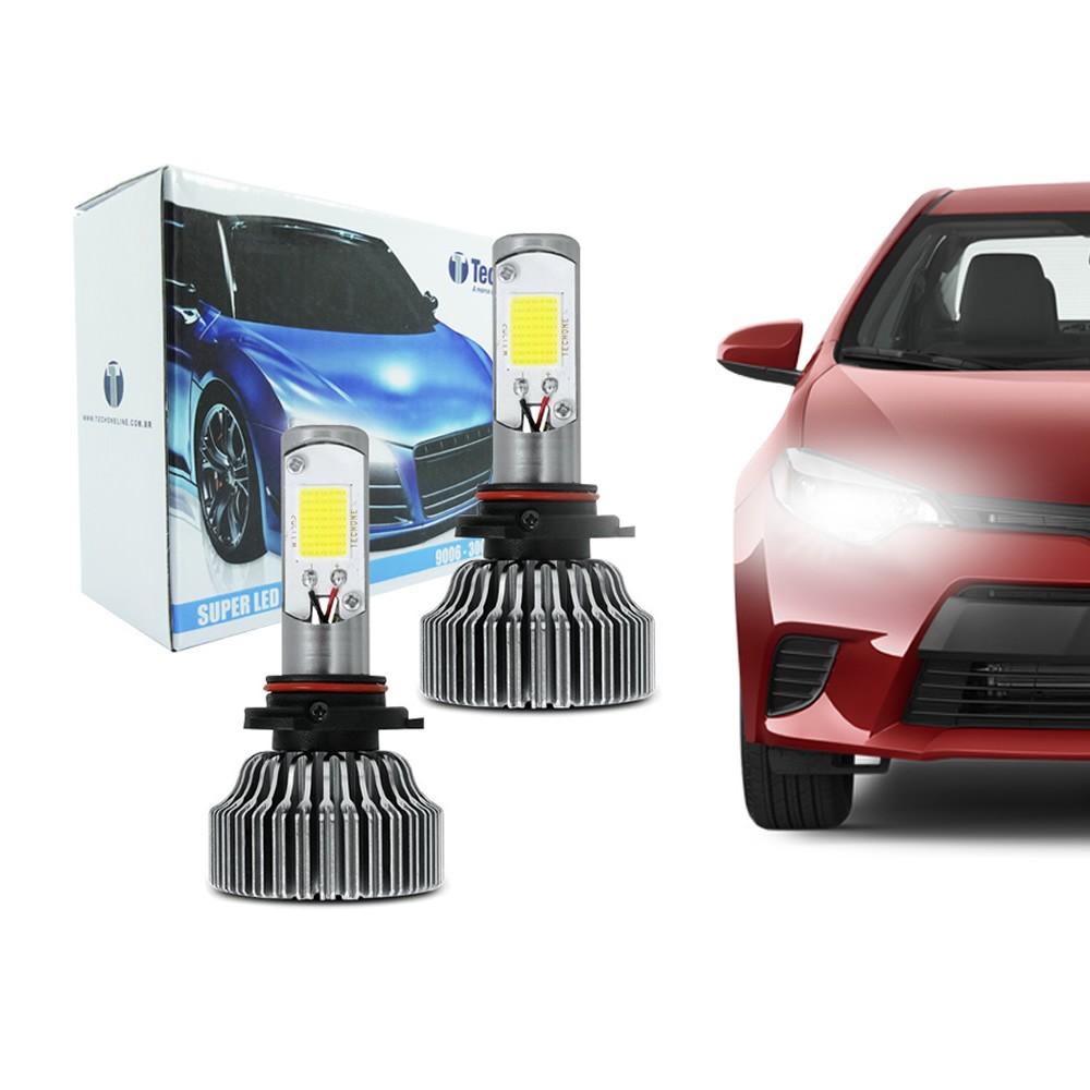Kit Lâmpada Super LED HB4 (9006) 6000k 12V e 24V 18W 3000LM Efeito Xenon - Tech One