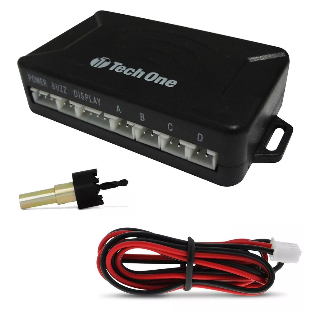 Kit Sensor de Estacionamento Ré 4 pontos Branco Standard LED Colorido (KSE05)