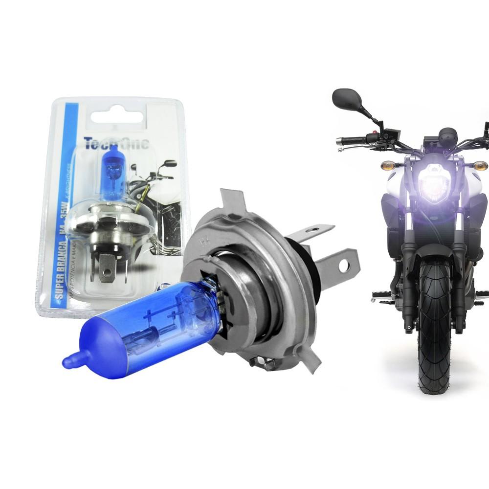 Lâmpada Super Branca H4 8500k 35w X-Brightness Efeito Xenon para Moto - Tech One
