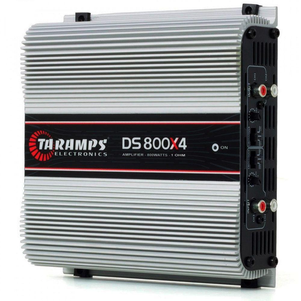 Módulo Amplificador Digital Taramps DS800x4 - 800W RMS 4 Canais 2 Ohms