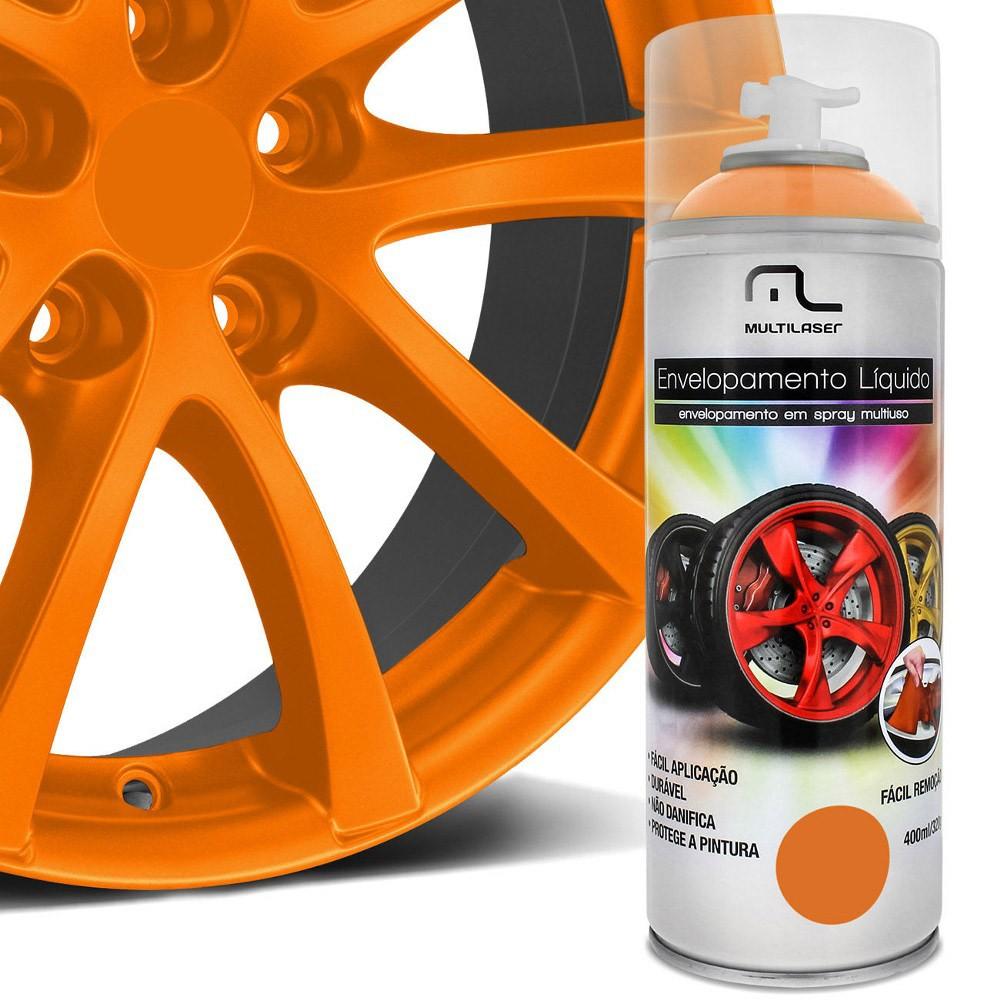 Spray de Envelopamento Líquido Multiuso Multilaser 400 ML Laranja Fluorescente AU426 (EL08)
