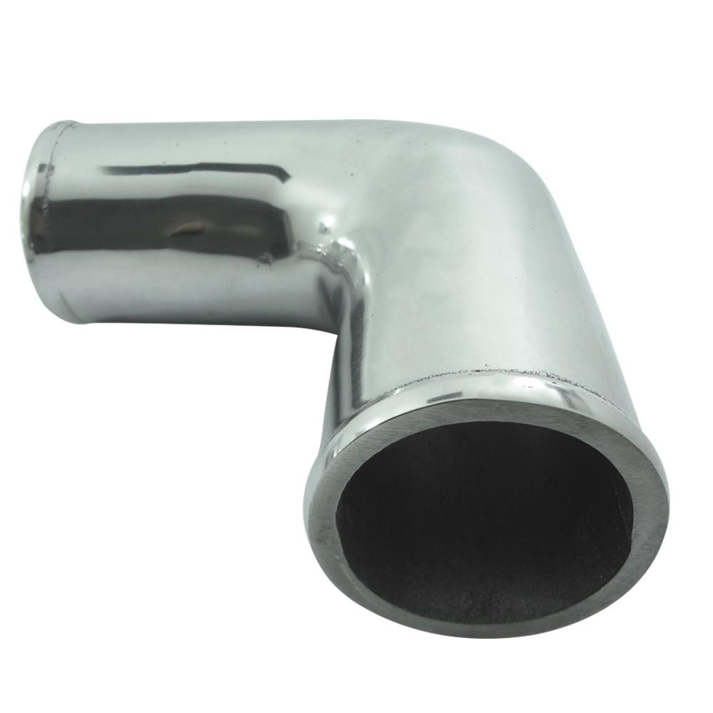 """Tubo de Pressurização Canote Turbo Curva 90 Graus em Alumínio 2"""" 1/2"""