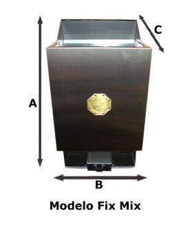 Sauna Seca Elétrica parede - Comando Digital 9Kw Impercap até 16,5m³