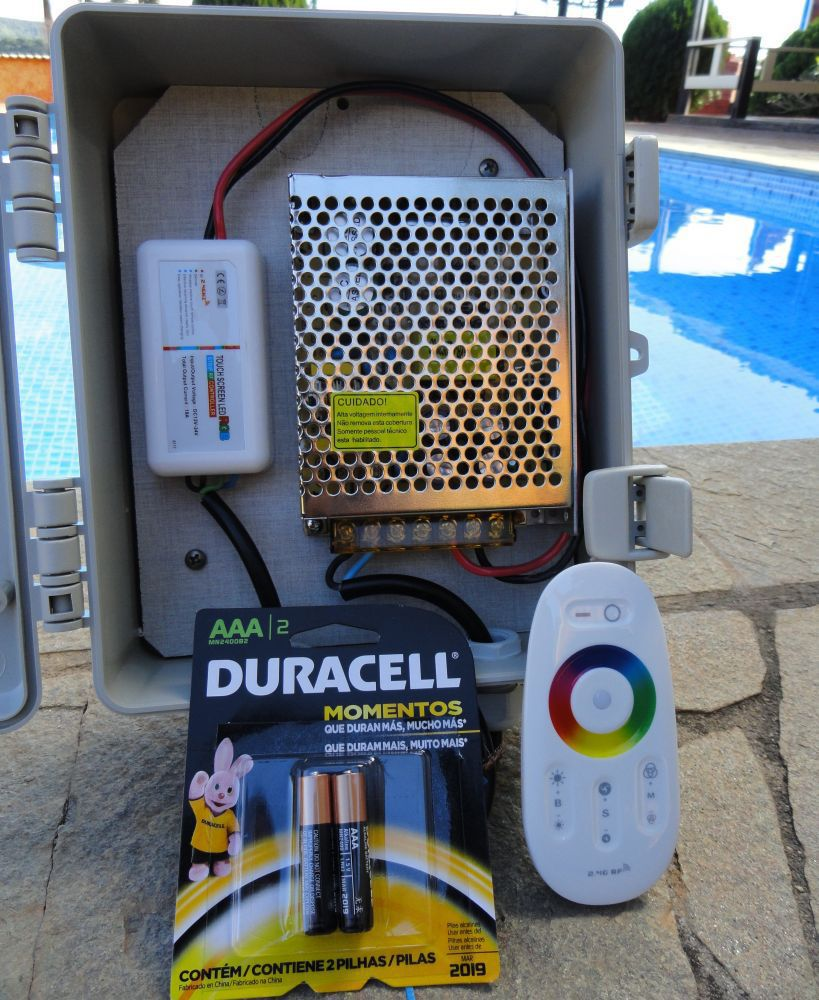 Led Piscina - Kit 9 Pratic SMD + Central + Controle Touch