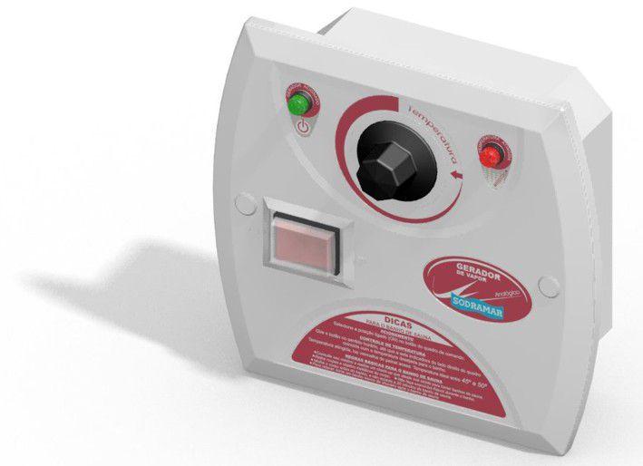 Quadro de Comando Analógico para Sauna Universal e Indoor Steam Inox - Sodramar