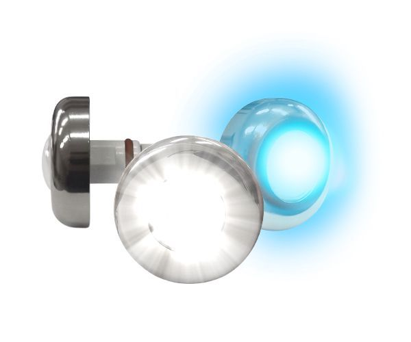 Led Piscina - Kit 4 Led Tholz 6W Inox RGB + Central + Controle Touch