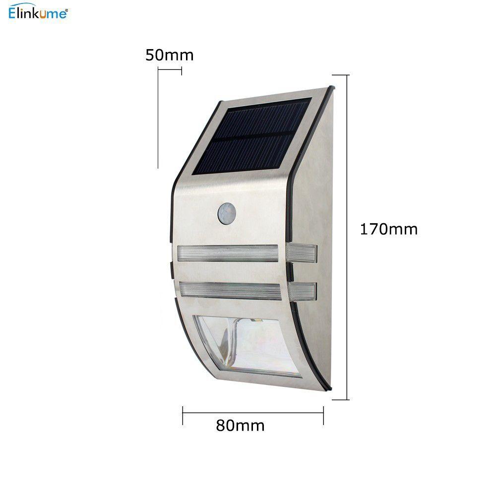 Led Solar de Parede Inox - Luminária