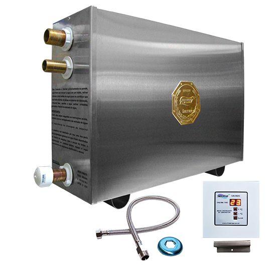 Sauna Vapor Elétrica 14kw Inox já com Comando Digital Impercap