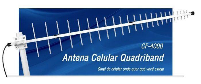Antena Externa Quadriband Aquario - 12dBi