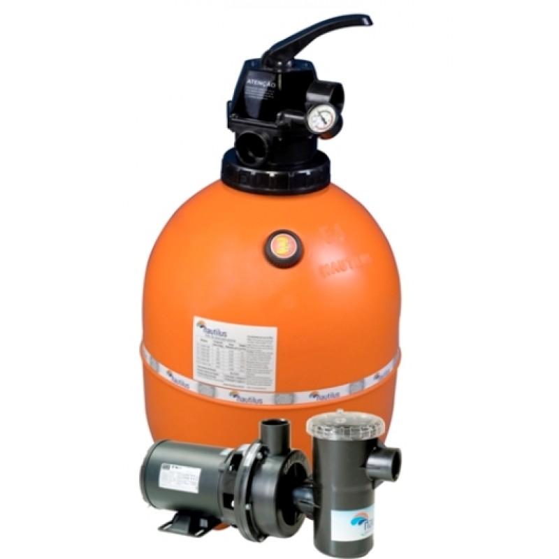 Filtro f450p e motobomba 1 2cv nautilus piscinas at 52 for Filtros de agua para piscinas