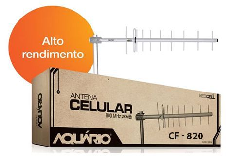 Antena Externa Aquario 850MHz - 20dBi