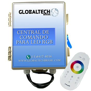 Central De Comando LED RGB Controle Touch - 60W/5A