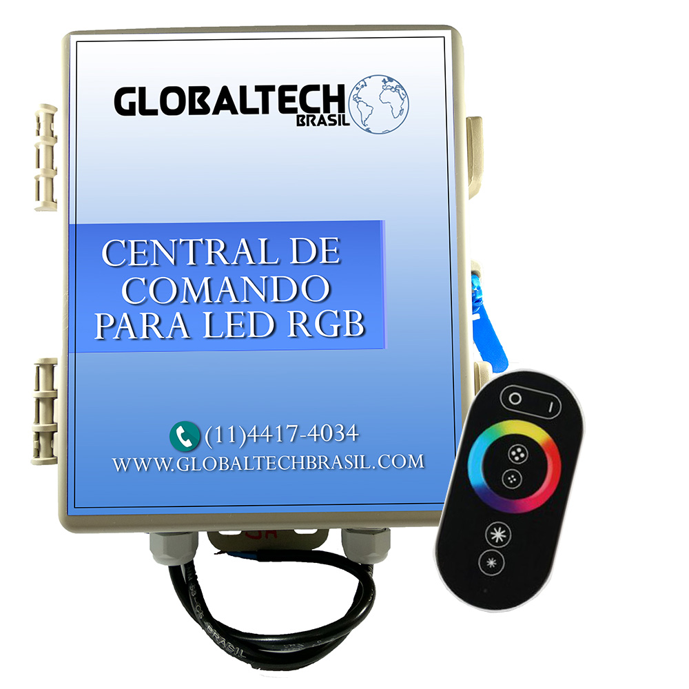Central De Comando LED RGB Controle Touch - 60W/5A