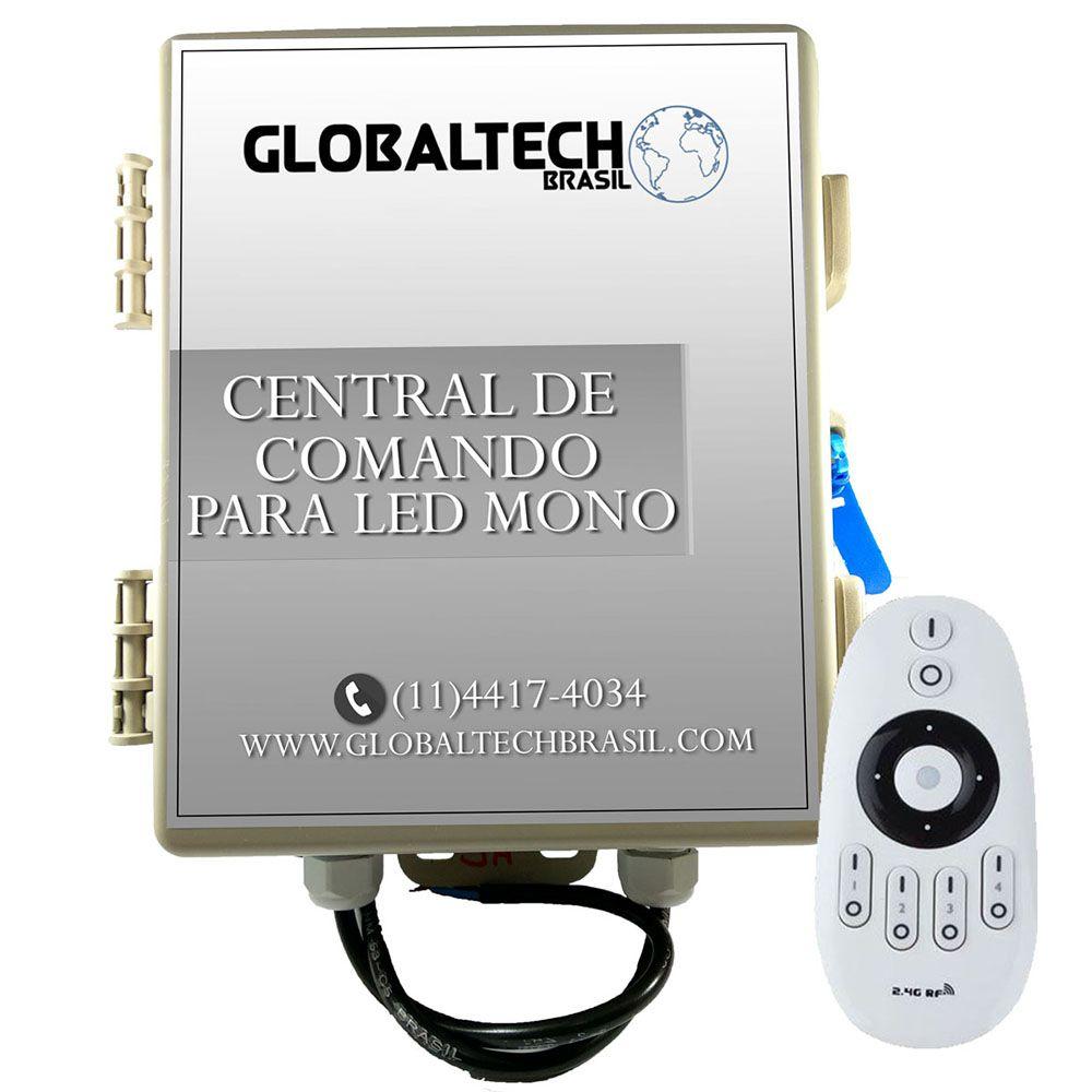Central de Comando Leds PISCINA Monocromático 3 Zonas 5A/60W