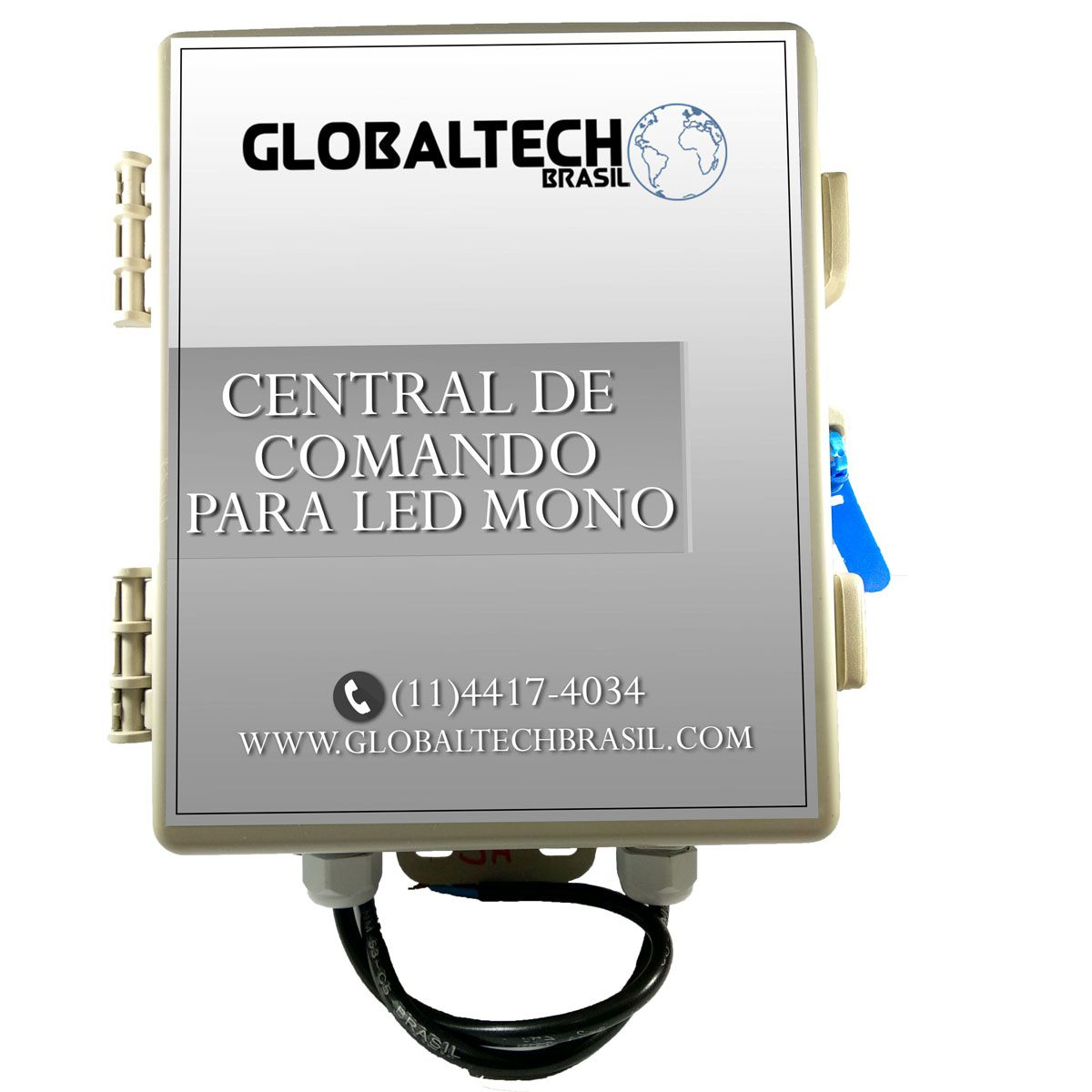 Central de Comando LED Piscina Monocromático com Controle - 120w/10A