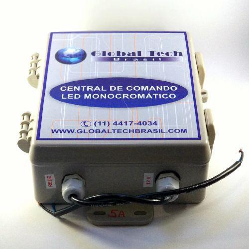 Central de Comando Leds PISCINA Monocromático com Controle - 180w/15A