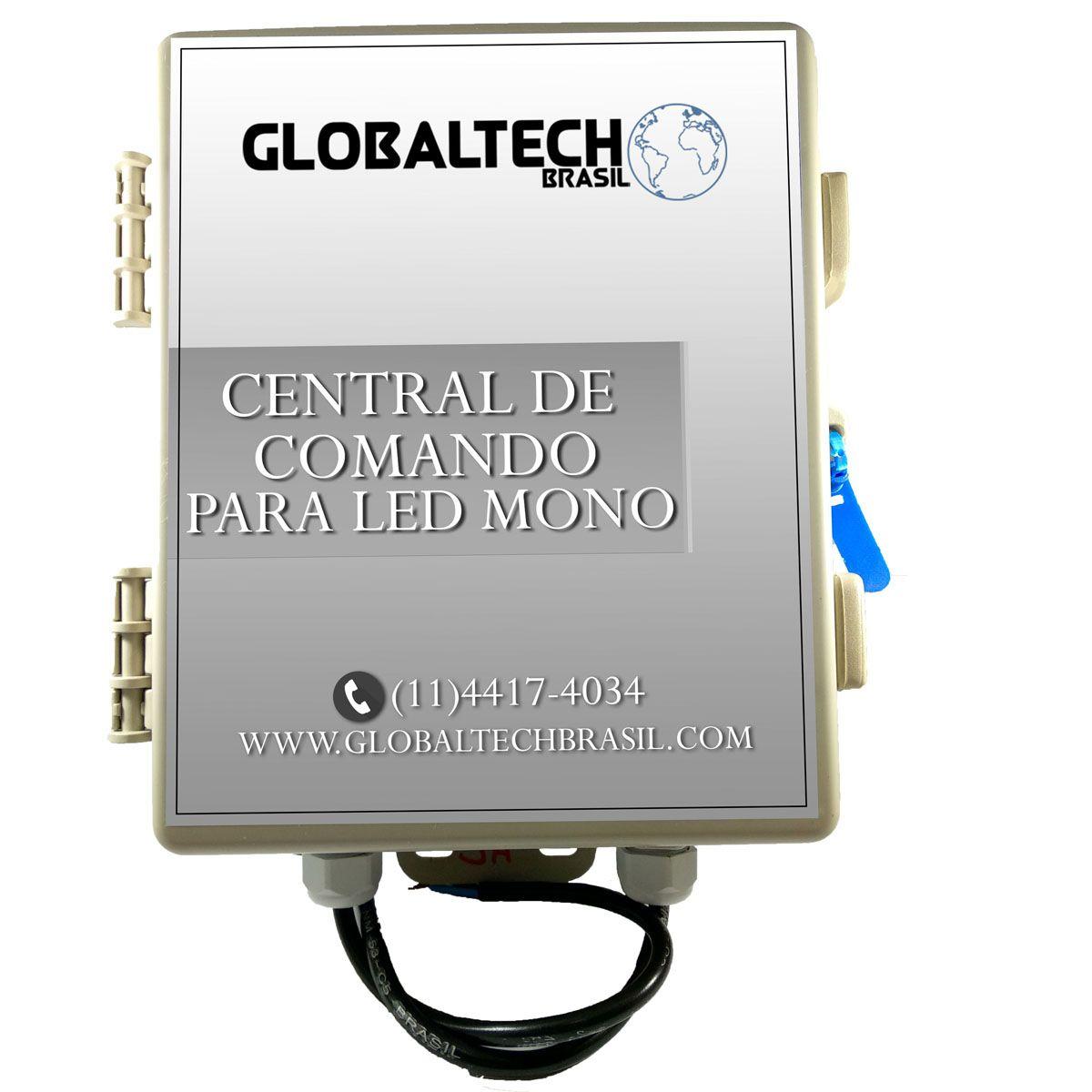 Central de Comando LED Piscina Monocromático com Controle - 60w/5A