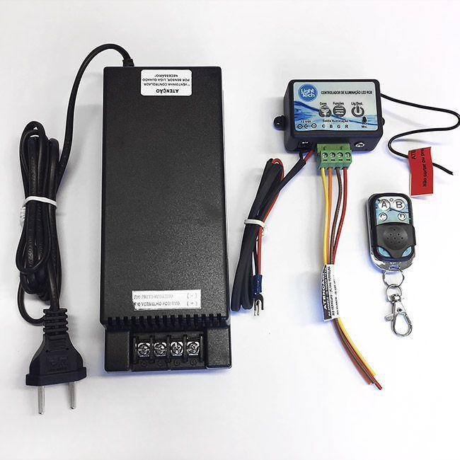 Central de Comando Led Piscina 120W modo audio - Light Tech