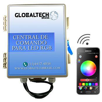 Central de Comando WiFi p/ Leds PISCINA RGB - 60w/5A