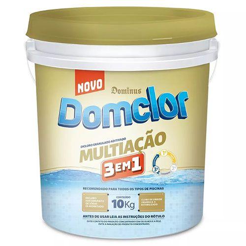 Cloro Piscina DiCloro Multiação 3 Em 1 - 10kg - Domclor