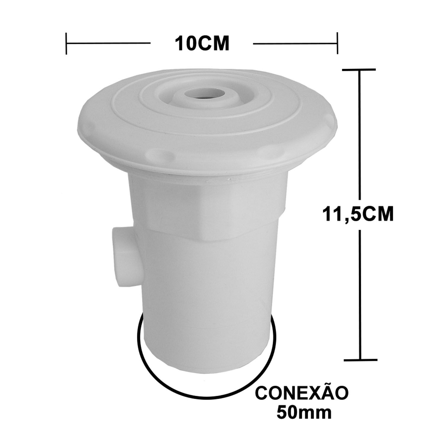 Dispositivo de Hidromassagem ABS 1 1/2'' - Fibra/Alvenaria