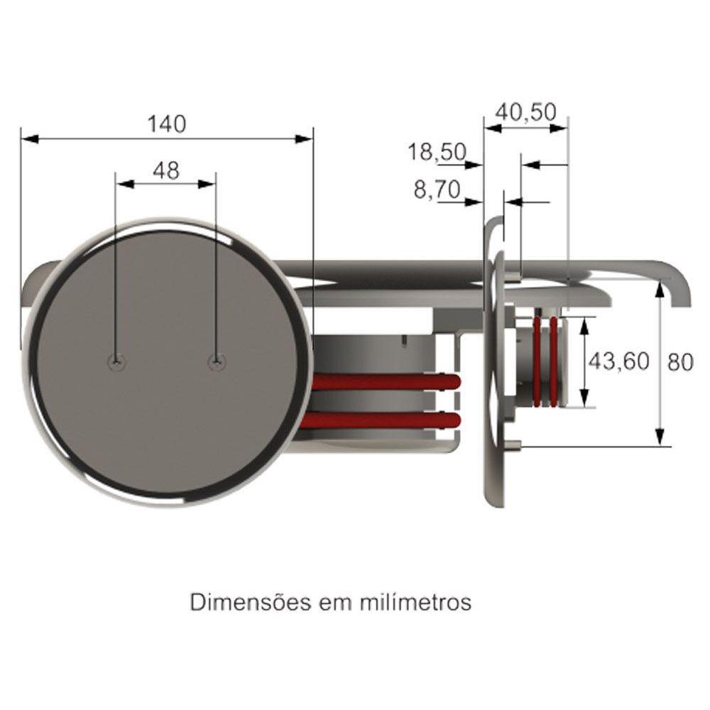 Dispositivo Dreno Fundo Inox 316 Premium 50mm - Tholz
