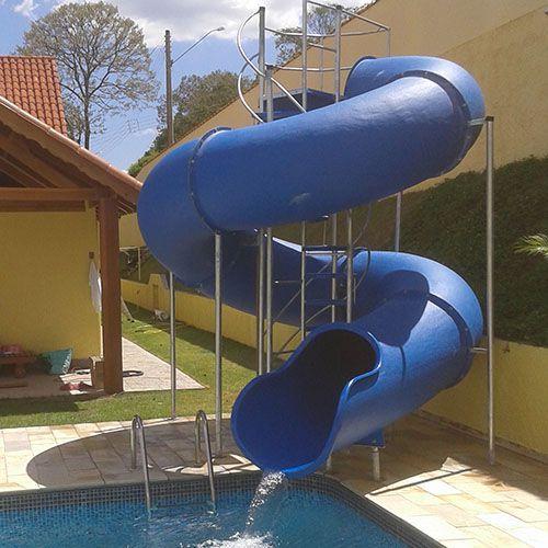 Escorregador toboágua 13m para Piscina Grande, Parque e Clube