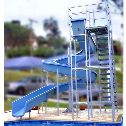 Escorregador toboágua 16m com 1 lance de escadas para Piscina Grande, Parque e Clube