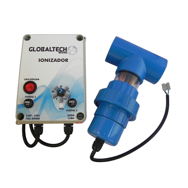 Ionizador Piscina GB até 50.000 L - Globaltech Brasil (2 eletrodos)