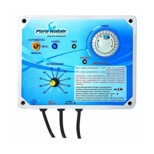 Ionizador Piscina Pure Water Pw 35 - Piscinas Até 35.000 L