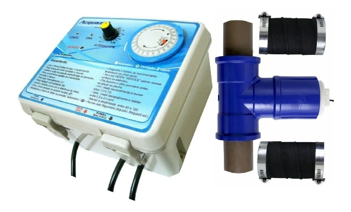 Ionizador Piscina Pure Water Pw 15 - Piscinas Até 15.000 L