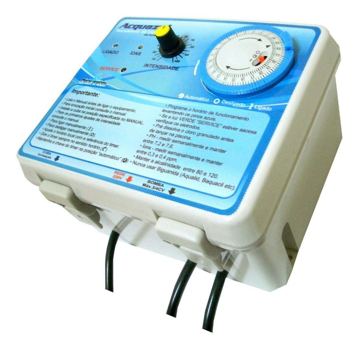 Ionizador Piscina Pure Water Pw 7 - Piscinas Até 7.000 L