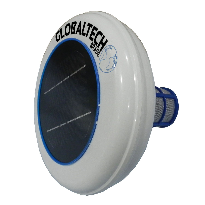 Ionizador Piscina Solar Globaltech Brasil até 130.000 L