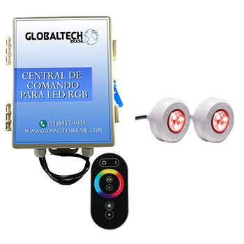 Kit 2 Leds RGB Coloridos + Central + Controle Touch Screen